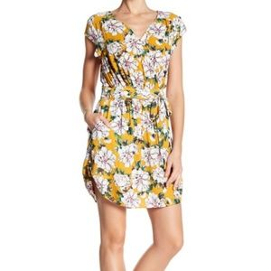 DR2 Daniel Rainn Yellow Floral Summer Dress